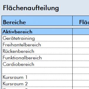 Checkliste Flächenaufteilung