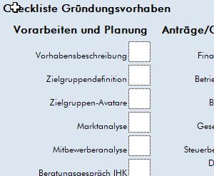 Checkliste Gründung