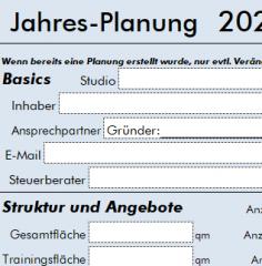 Checkliste Jahresplanung von Fitnessstudio