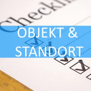 Checkliste Objekt und Standortanalyse