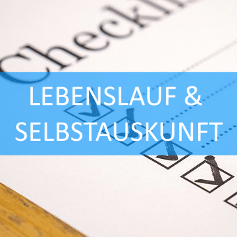 LEBENSLAUF & SELBSTAUSKUNFT